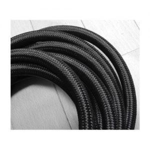 ブラックナイロン/ステンレス メッシュオイルホース 3m