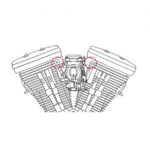 1984-92年 ヘッド側エアクリーナー固定ボルト