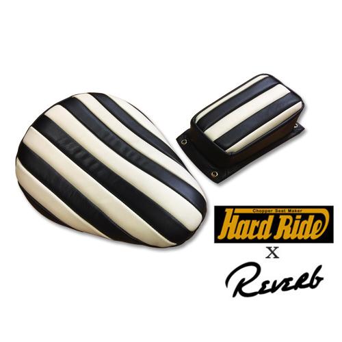 HARD RIDE x Reverb ナロービンテージレプリカシート ブラック/ホワイト