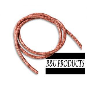 R&U ヘリンボーン【プラグコード】 レッド/ホワイト 1m