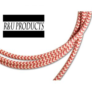 R&U ヘリンボーン布巻き【配線】 レッド/ホワイト