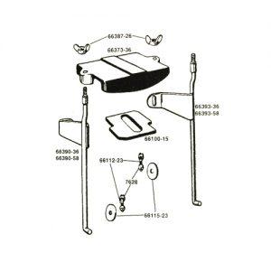 6Vバッテリーケース用フォームパッドセット 66100-15