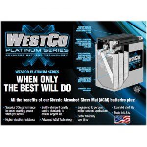 WESTCOプレミアムAGMバッテリー