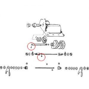 ラチェット/メカニカルトップ用 シフターフォークロックスクリュー