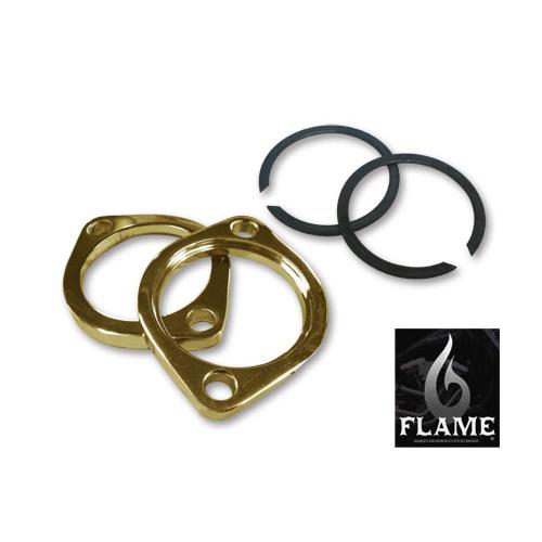 FLAMES 真鍮メッキ EVO/TC エキゾーストフランジKIT