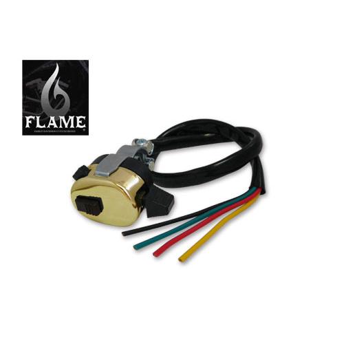 FLAMES 真鍮メッキ ユニバーサルウインカースイッチ