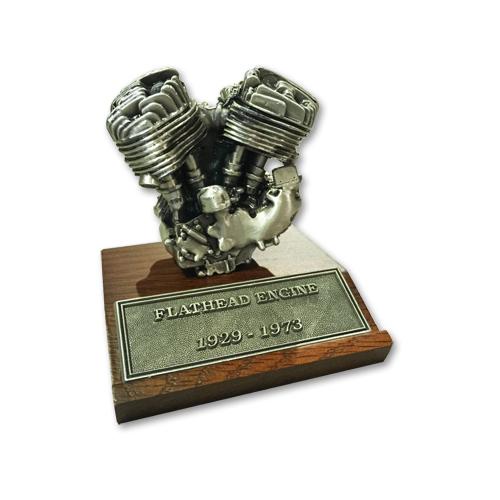 V-TWIN FLATHEAD ミニチュアエンジン 高さ8.2cm