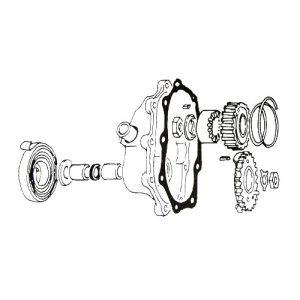 4速トランスミッション キッカーカバーガスケット