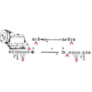 ラチェット/メカニカルトップ用 シフターフォーク用ワッシャーセット