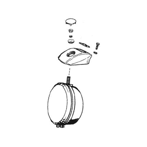 FX/XL/FXR用ヘッドライトバイザーキャップ