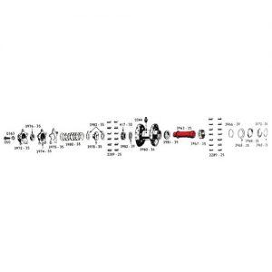 1936-66年インナーベアリングスペーサー 43549-36