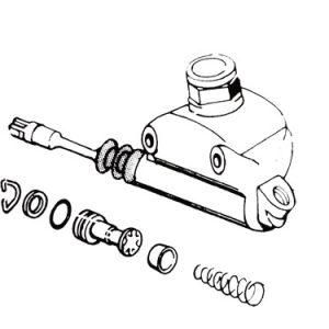リアマスターシリンダーリビルドキット 1958-79年ワグナー用