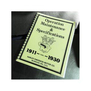 1911-1930年HDオフィシャル メンテナンスマニュアル
