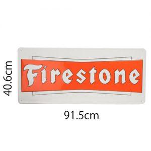 FIRESTONEメタルサイン 91.5x40.6cm