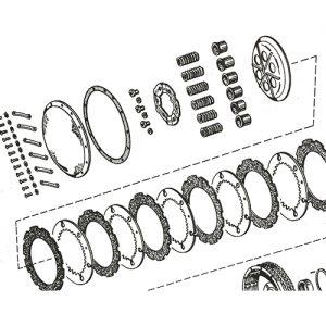 52-70年 K/XL用クラッチスプリング6本セット