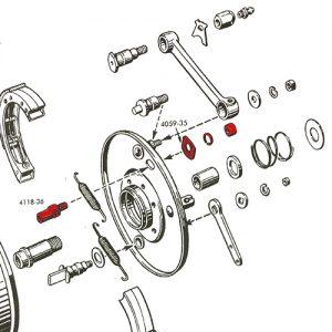 36-48フロントドラムブレーキシューピボットスタッドキット
