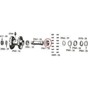 スターハブ/58以降ライトケース用ベアリングリテーナー