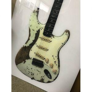 69ストラト 特大アクリルギターポスター 900x450mm