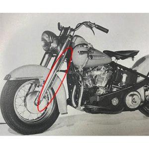 フロントブレーキケーブルチューブ 1949-59/1968-71年左側ドラム用