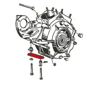 1948年74/80サイドバルブ用モーターマウントスペーサー