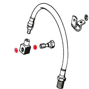 油圧ドラム用ホイールシリンダーカッパーGK/2枚