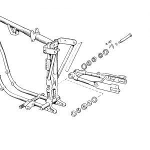 52-73K/XL用スイングアームリビルドキット