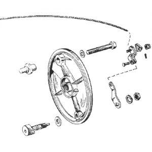 52-72年XL/FX用ブレーキレバー 44307-52