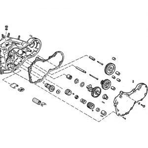 59-69年BT用ディストリビューターギア スタッド/ブッシング/スクリューKIT