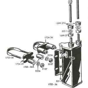 1930-47年コイルマウントブラケットセット