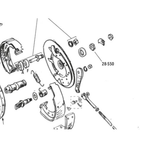 1930-72年リア用アクスル スリーブナット 8095