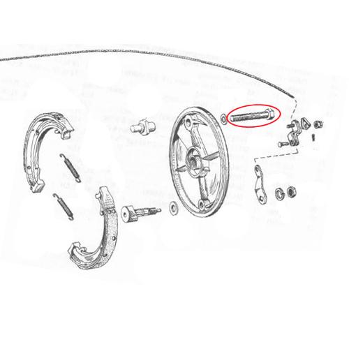 33.4mmフォーク用ドラムアンカーボルト OEM3433