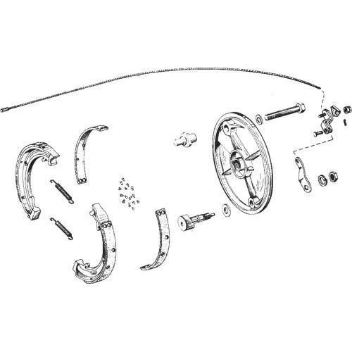 ハンバーガードラム用ブレーキシューセット